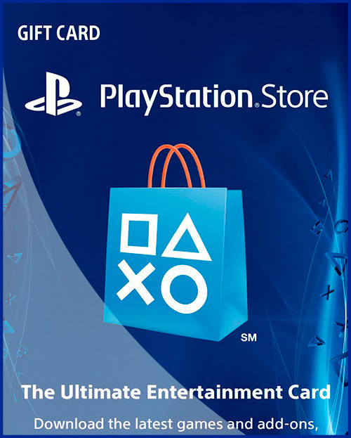 PSN Gift Card Code Карты оплаты