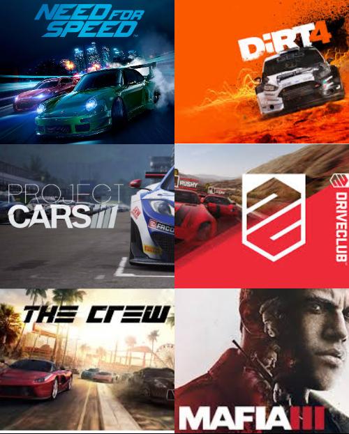 [PS4]Подборка игр в жанре гонки...